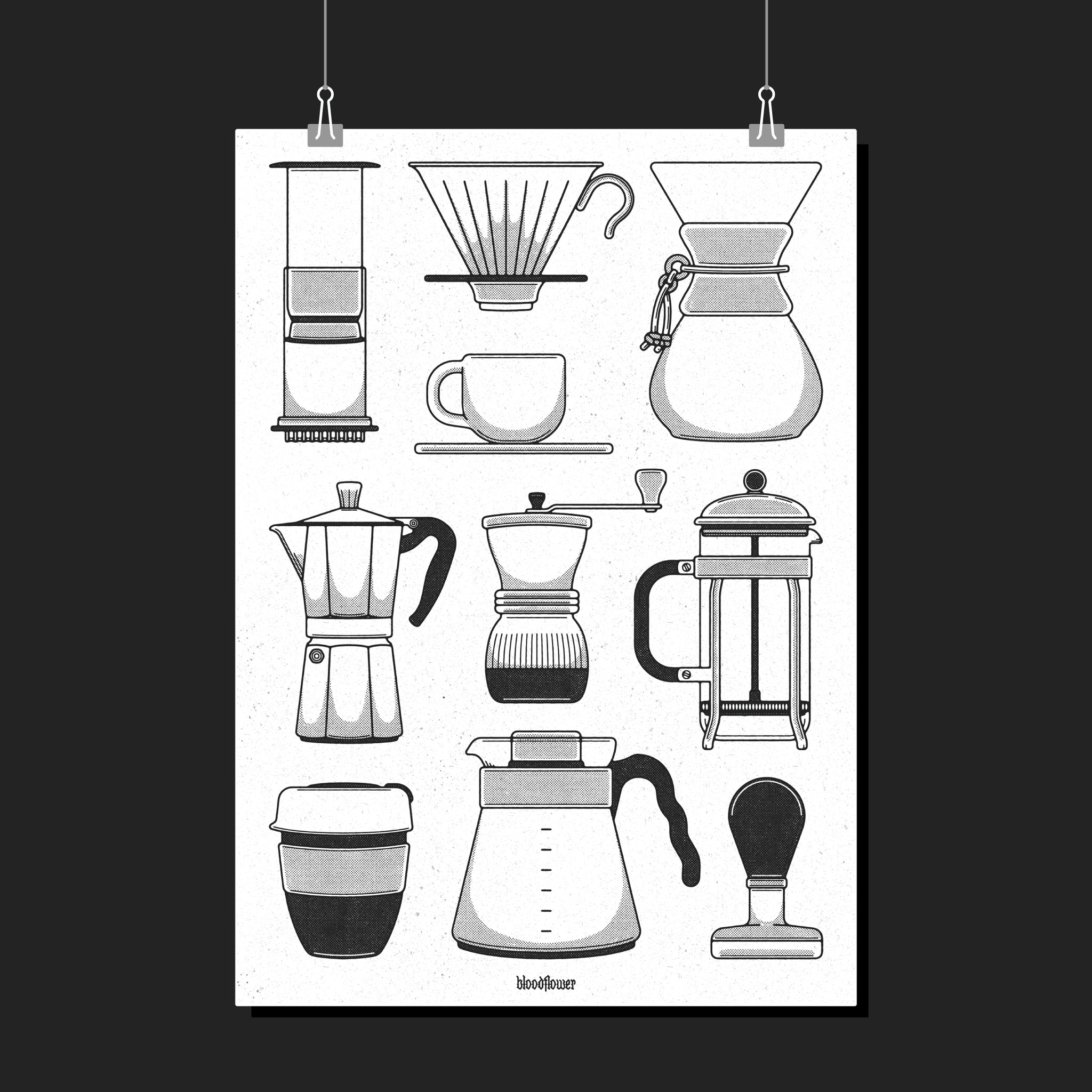 Caffeine Club Print (A2 or A3)