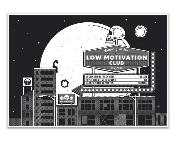 Low Motivation Club A4 Print