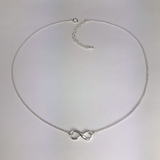 Side to Side Silver Infinity Necklace