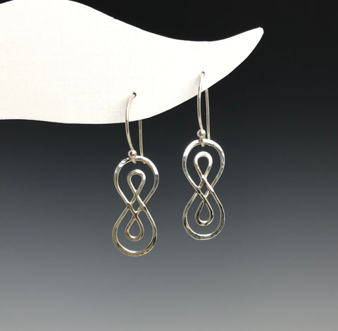 Silver Double Infinity Earrings