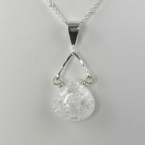 Quartz Crystal Teardrop Pendant- Small