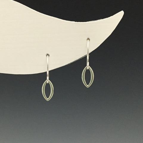 Silver Tiny Oval Earrings