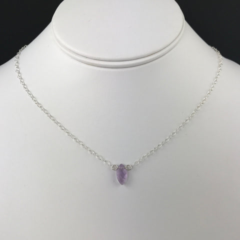 Side to Side Amethyst Necklace
