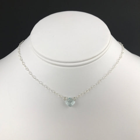 Side to Side Aqua Quartz Necklace