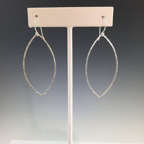 Silver Marquise Shape Earrings - Largest