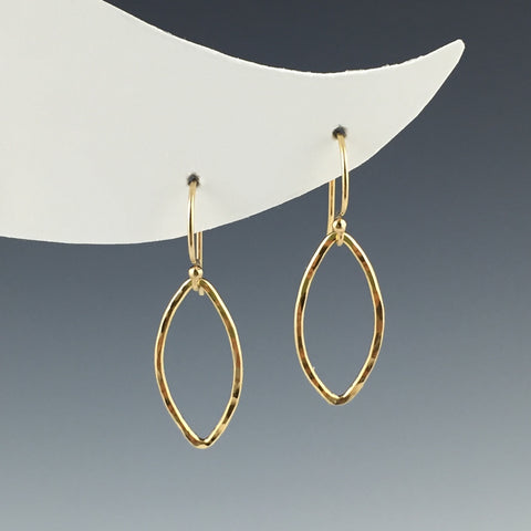 14 Kt. Gold-Filled Marquise Earrings - Small