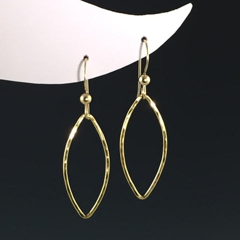 14k Gold-Filled Marquise Earrings - Medium