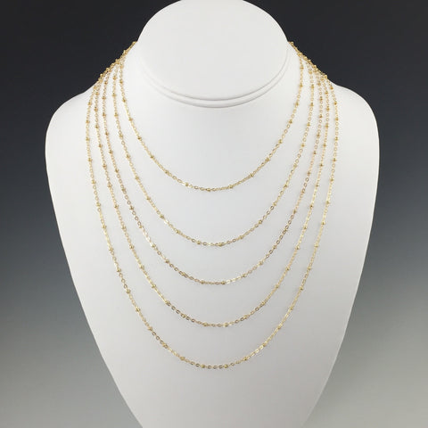 14 Kt. Gold-Filled Beaded Chain