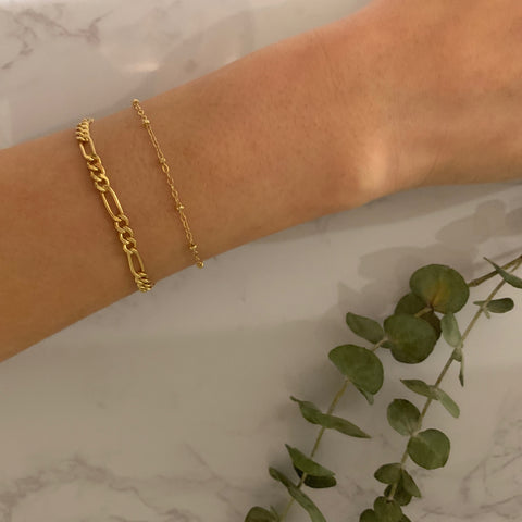 Gold Thick Figaro Bracelet