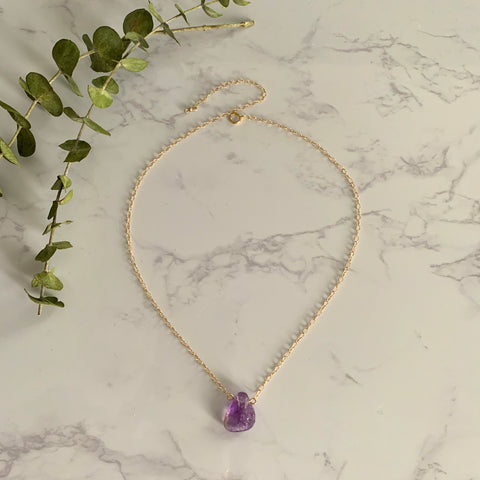 Side to Side Gold Ametrine Necklace