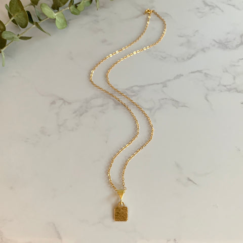 Gold Lock Pendant