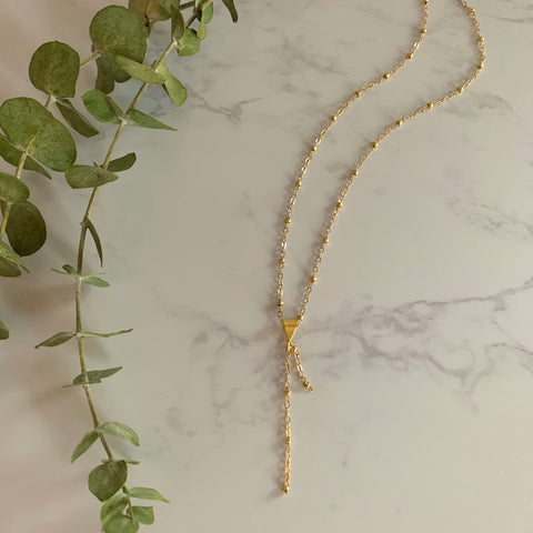 Gold Beaded Chain Pendant