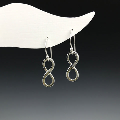 Silver Infinity Earrings - M