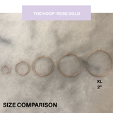 The Hoop- XL Rose Gold