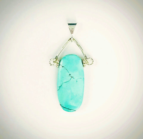 Turquoise Oval Pendant