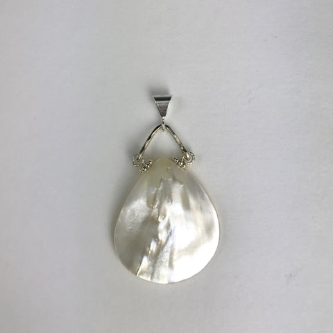 Silver Mother of Pearl Teardrop Pendant