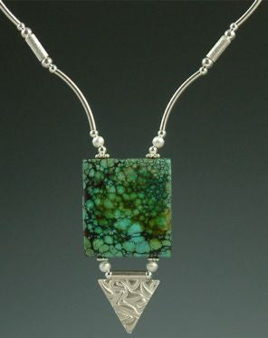 Chinese Turquoise & PMC Necklace