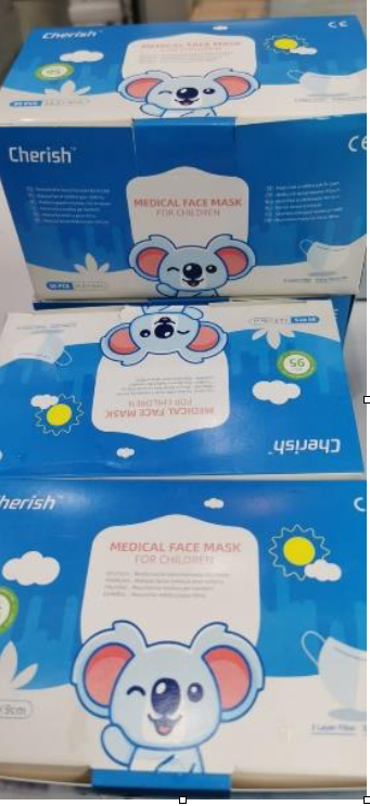 3PLY children's masks white