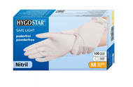 Disposable gloves nitrile Hygostar safe tender white Gr. XS-XL