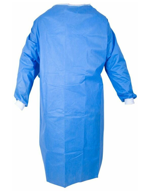 Disposable protective gown not surgically sterile SMS 40gr/m2