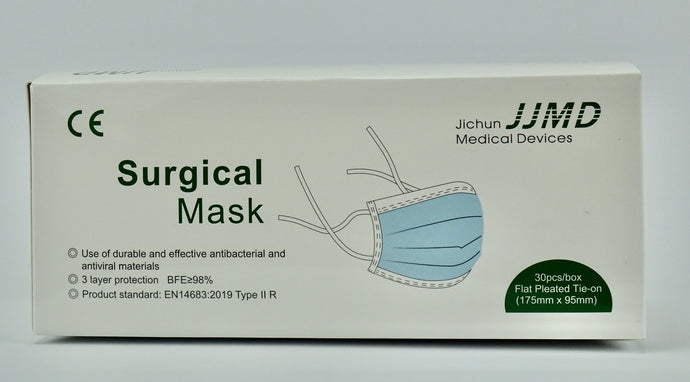 3 PLY disposable protective mask with tie straps type II R