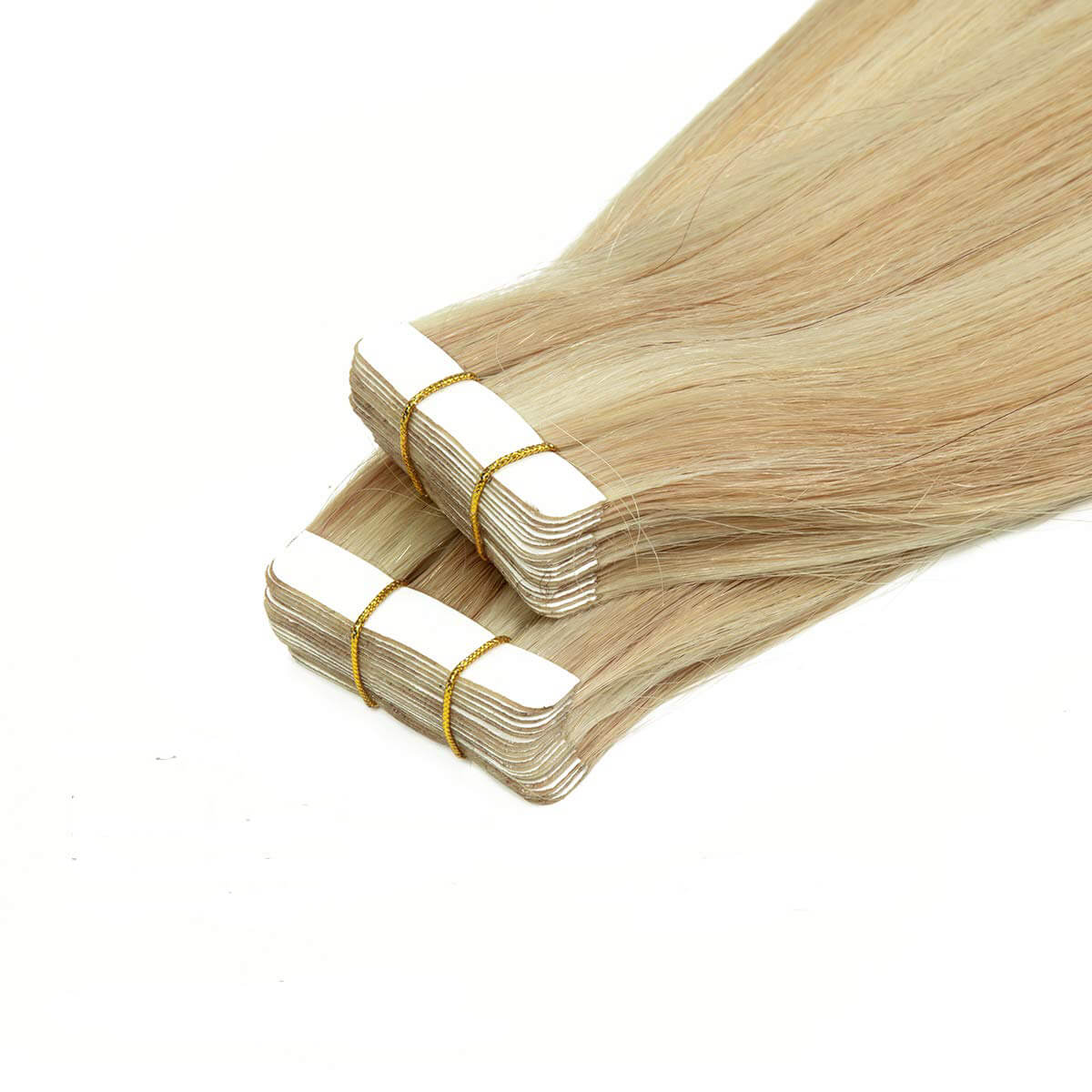 Remy PU Tape-in Human Hair Extensions Balayage Ombre Ash Blonde P#12-60