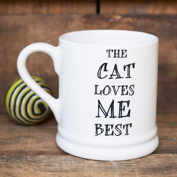 The Cat Loves Me Best Mug - Sweet William