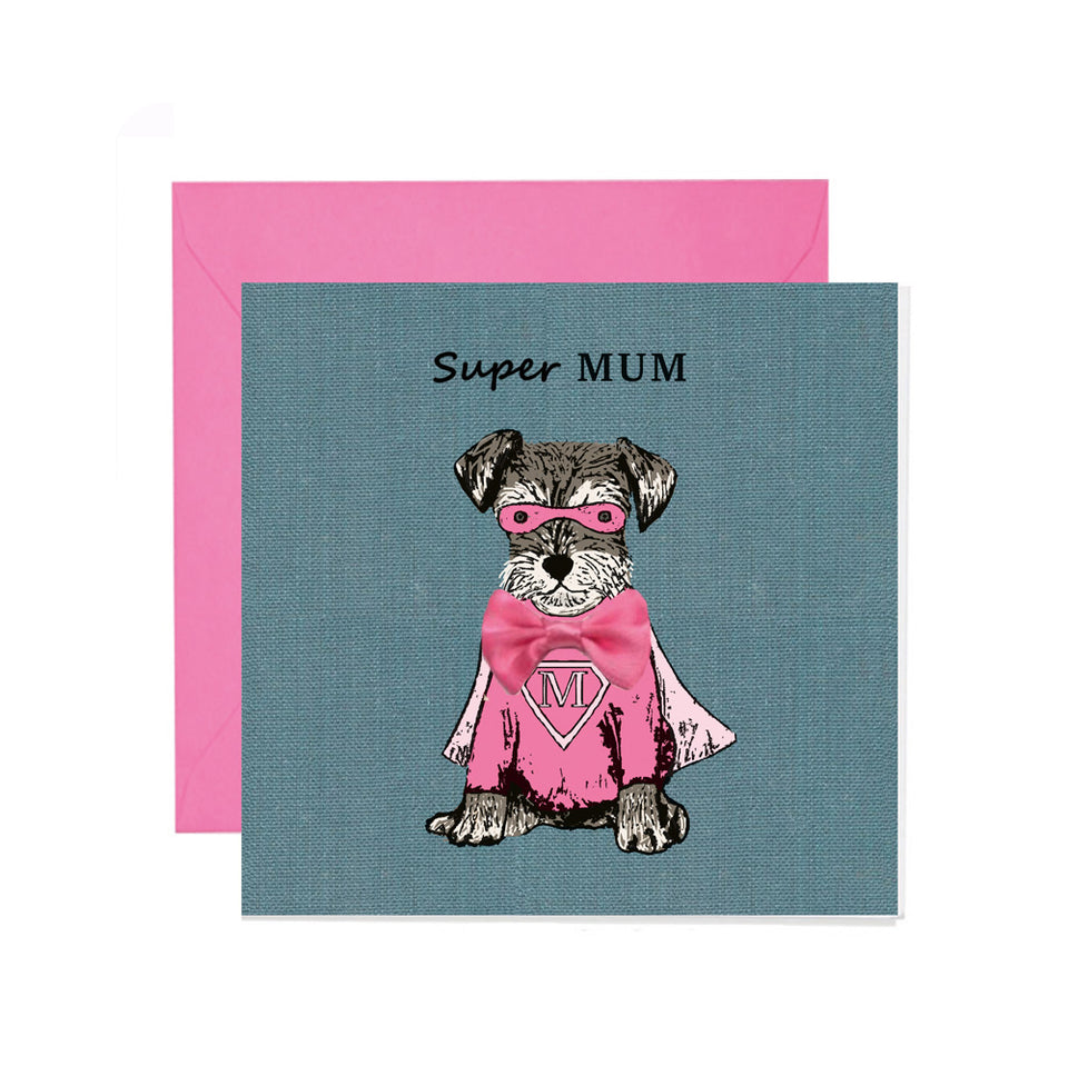 Super Mum Mother's Day Card - Apple & Clover