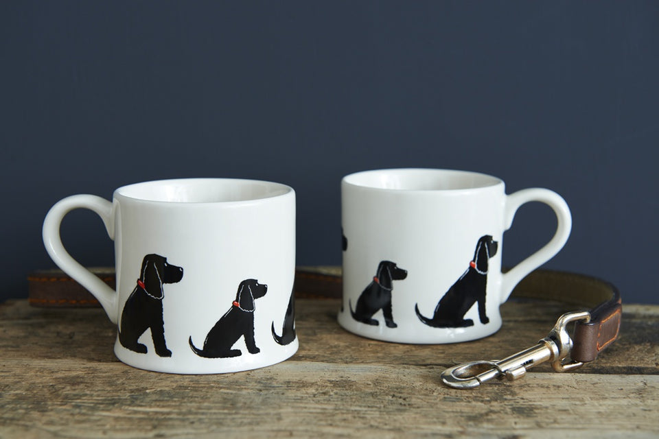 Black Cocker Spaniel Dog Mug - Sweet William