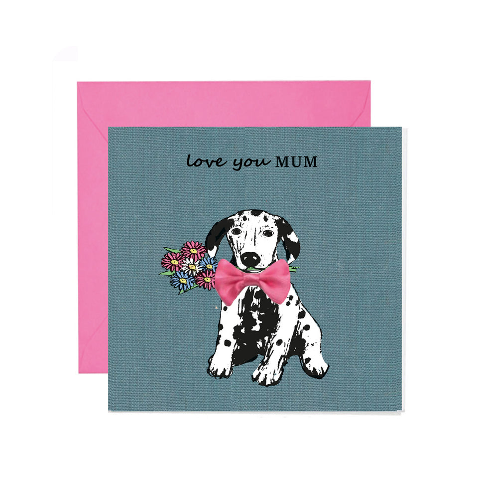 Love You Mum Mother's Day Card - Apple & Clover