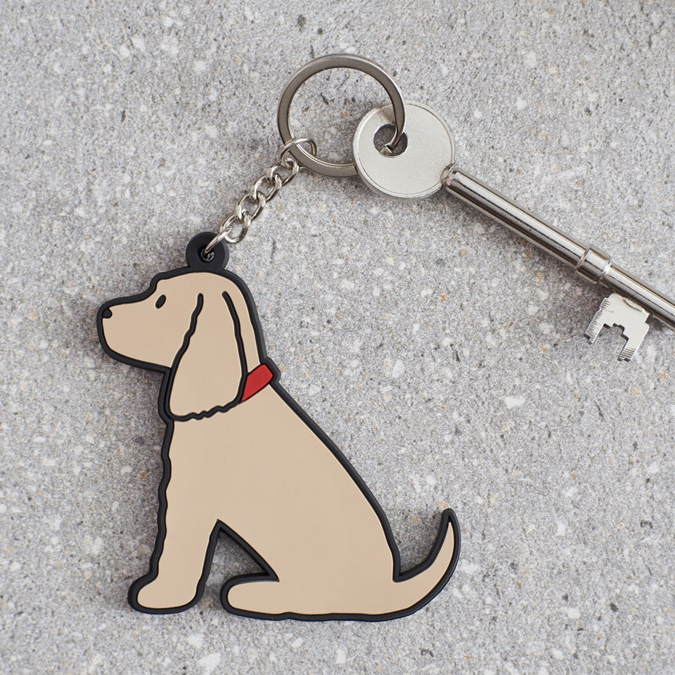 Golden Cocker Spaniel Dog Keyring - Sweet William