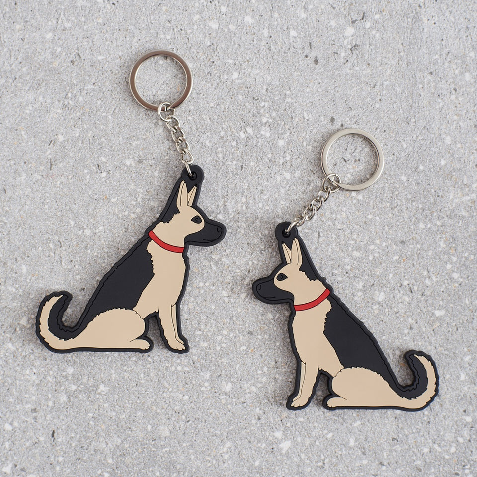 German Shepherd Dog Keyring - Sweet William