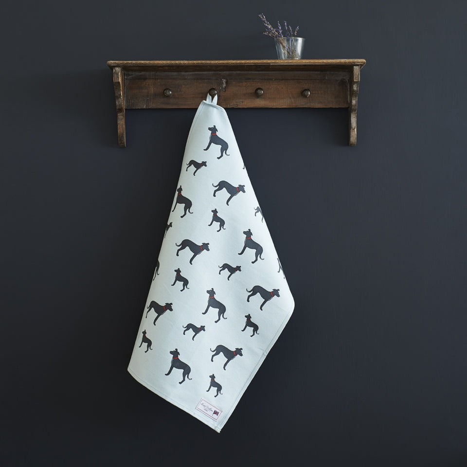 Lurcher Tea Towel