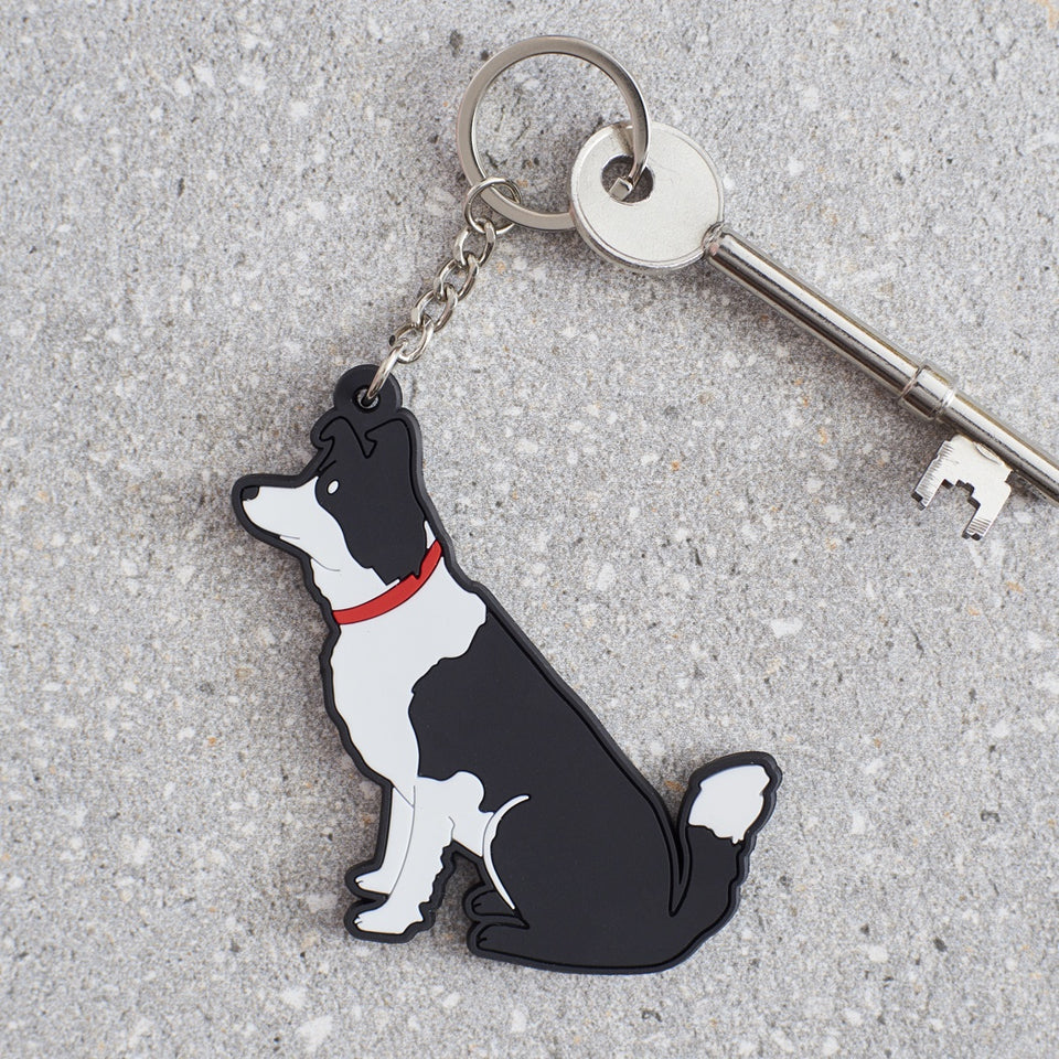Border Collie Dog Keyring - Sweet William