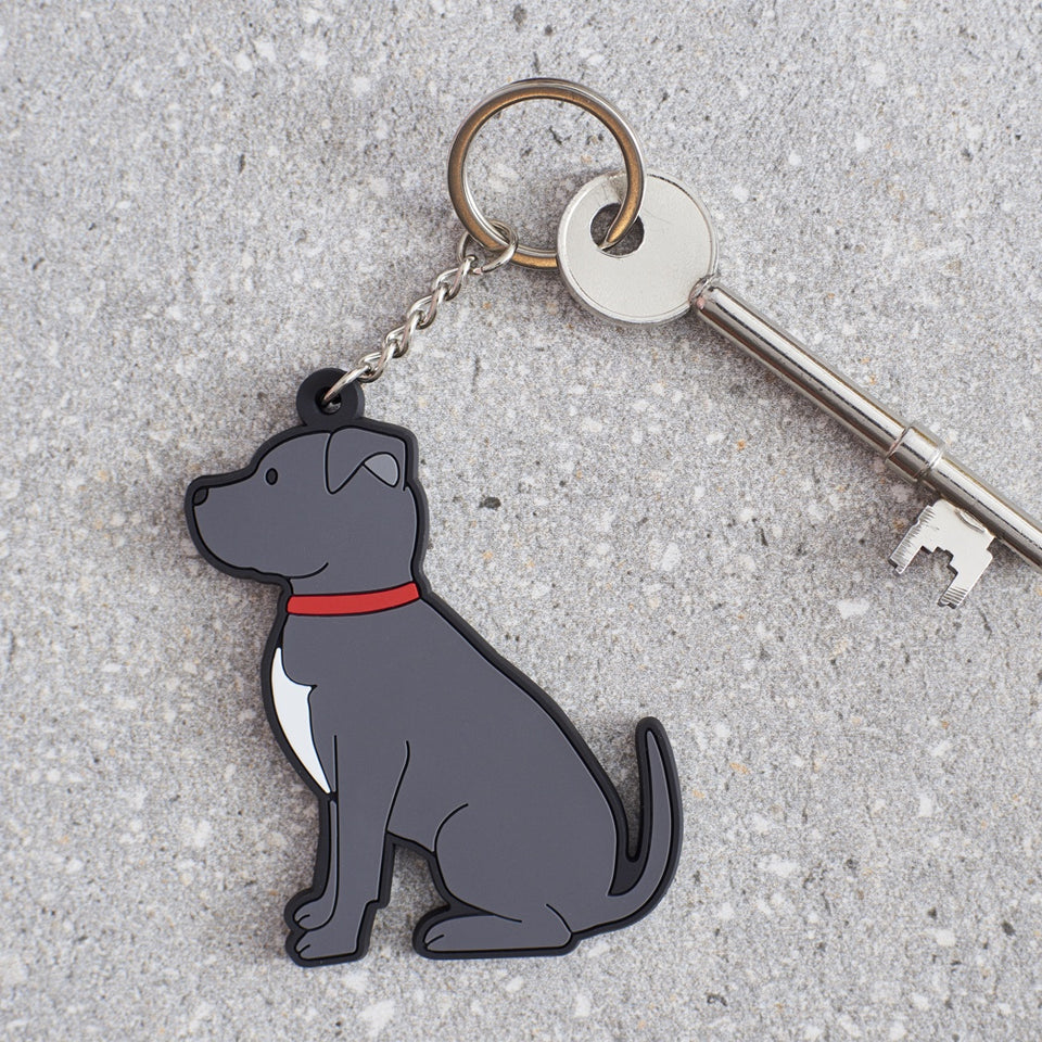 Staffie Dog Keyring - Sweet William