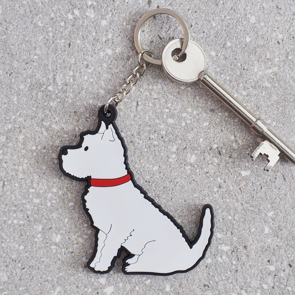 Westie Dog Keyring - Sweet William