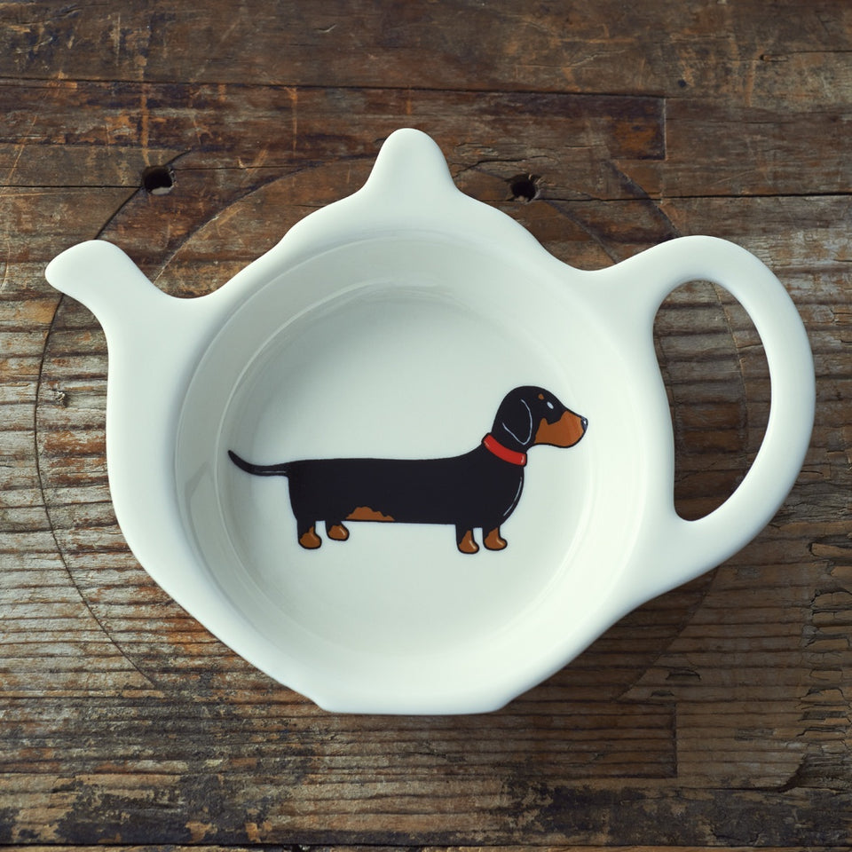 Dachshund Teabag Dish - Sweet William
