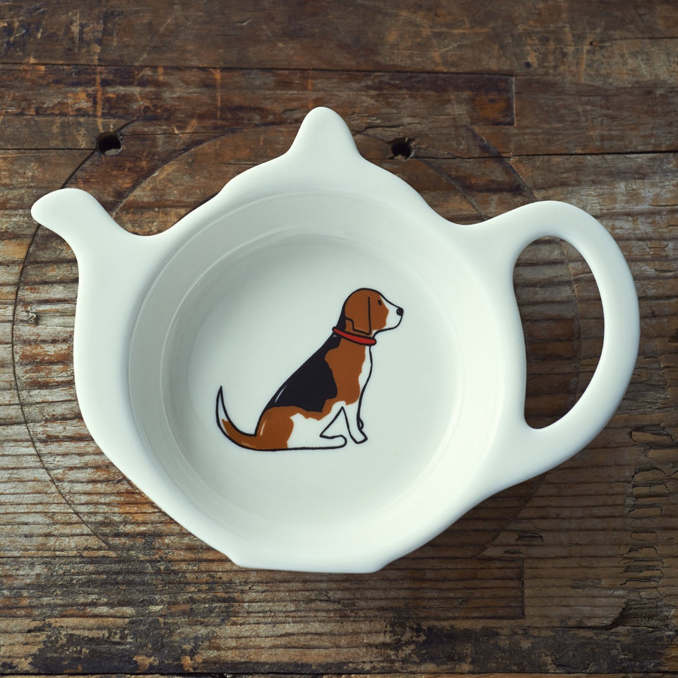 Beagle Teabag Dish - Sweet William