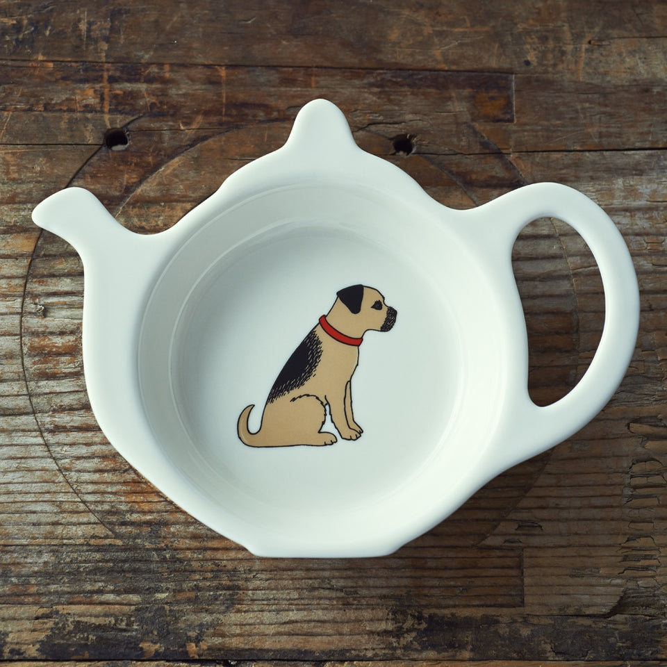 Border Terrier Teabag Dish - Sweet William