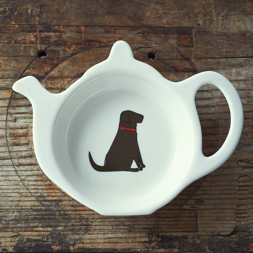 Chocolate Labrador Teabag Dish - Sweet William
