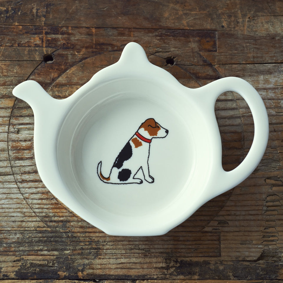 Jack Russell Teabag Dish - Sweet William