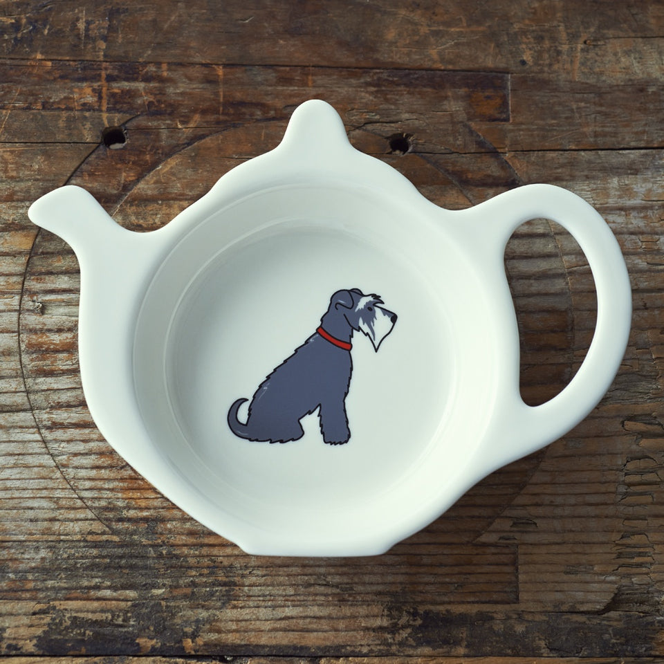 Grey Schnauzer Teabag Dish - Sweet William