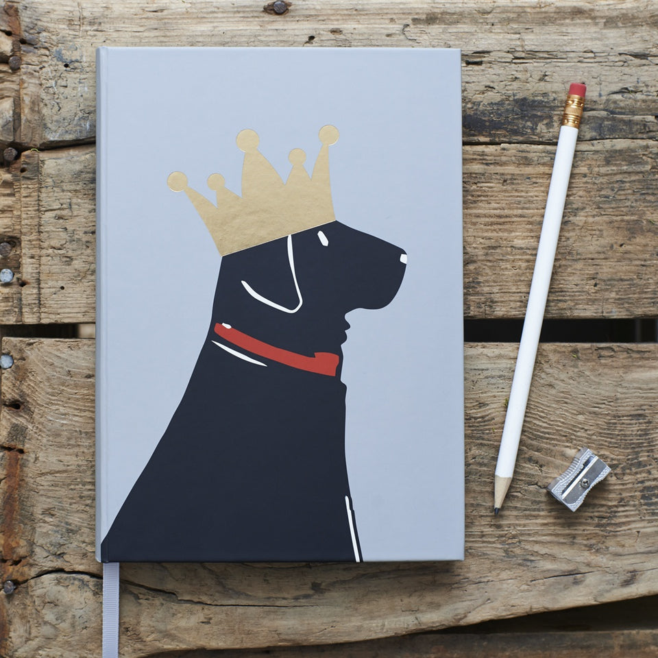 Black Labrador Notebook - Sweet William