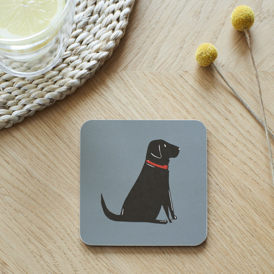 Black Labrador Coaster - Sweet William