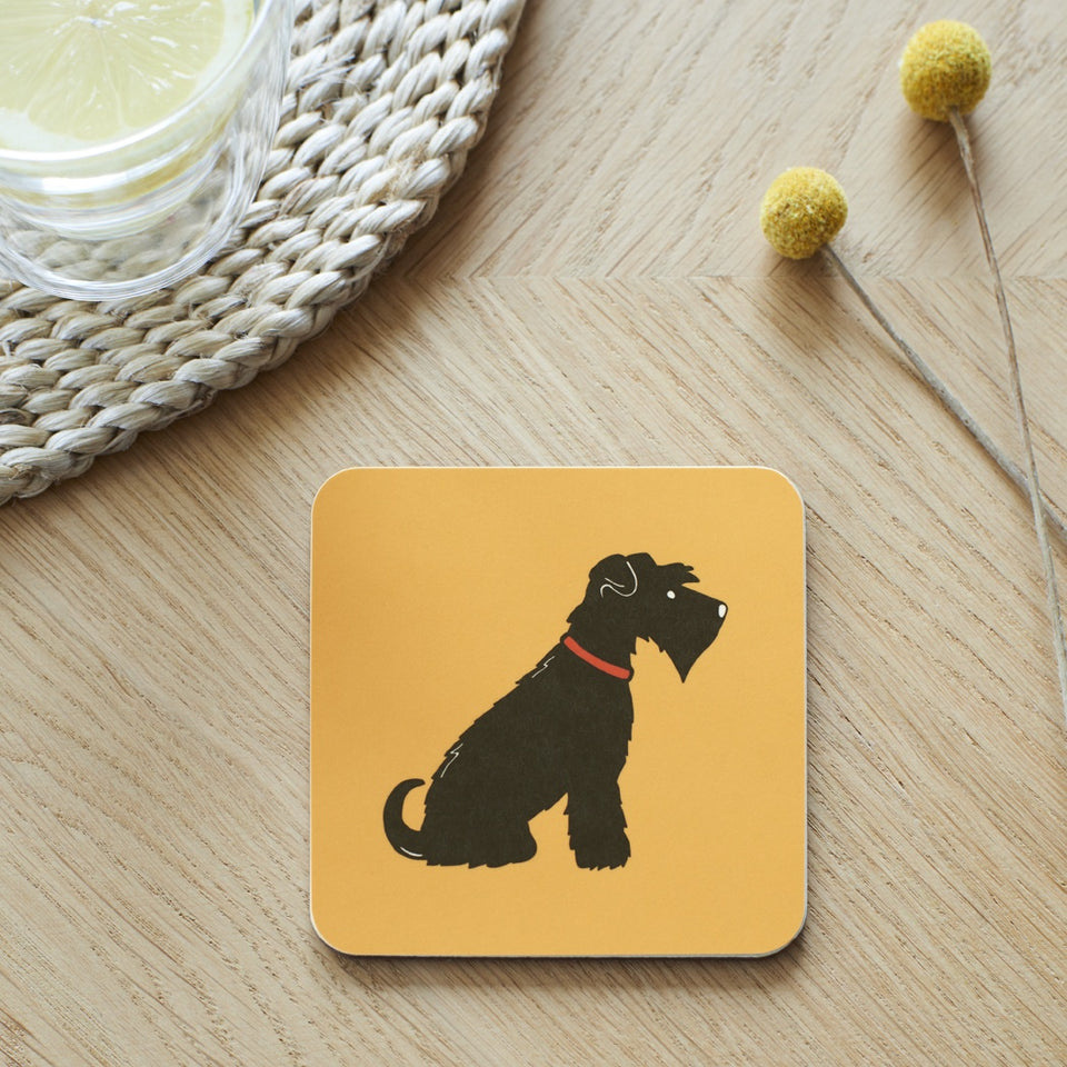 Black Schnauzer Coaster - Sweet William