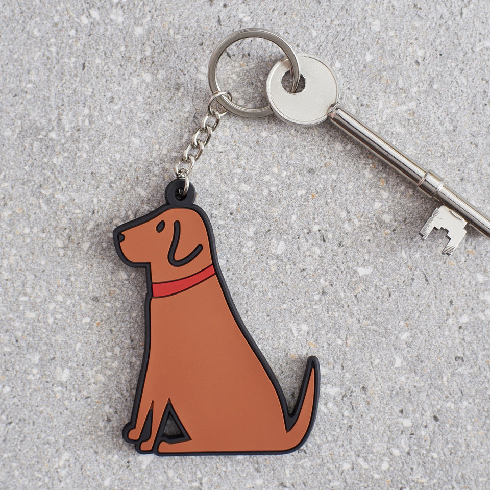 Fox Red Labrador Dog Keyring - Sweet William