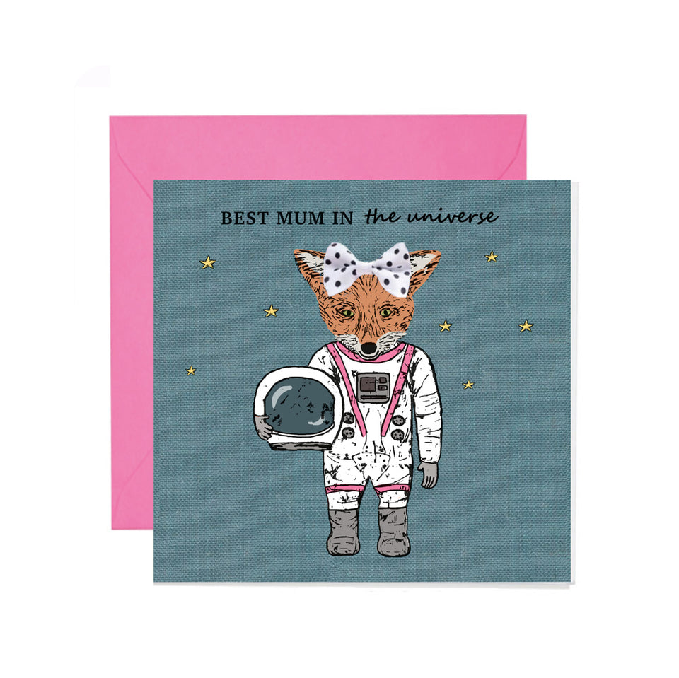 Best Mum In The Universe Mother's Day Card - Apple & Clover
