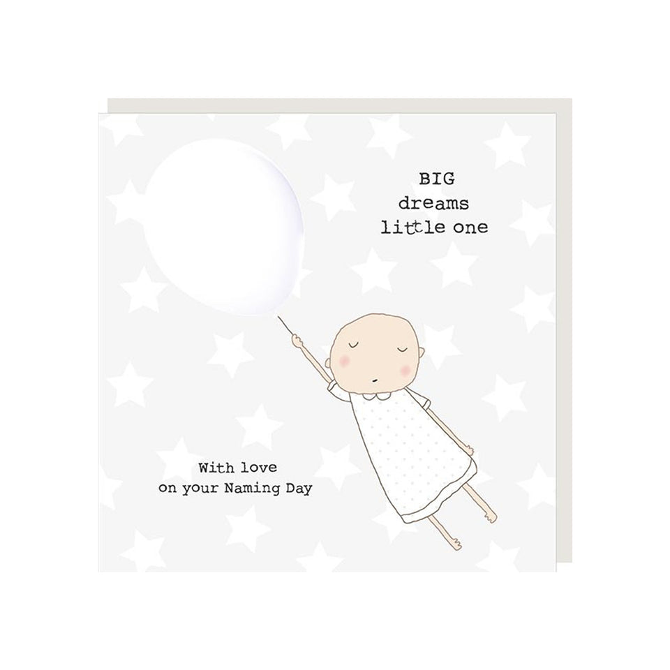 Big Dreams Naming Day Card - Rosie Made A Thing
