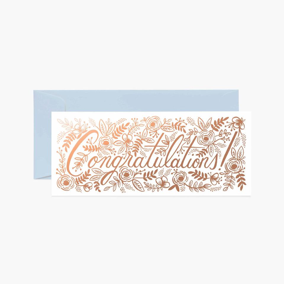 Champagne Floral Congratulations Greetings Card - Rifle Paper Co