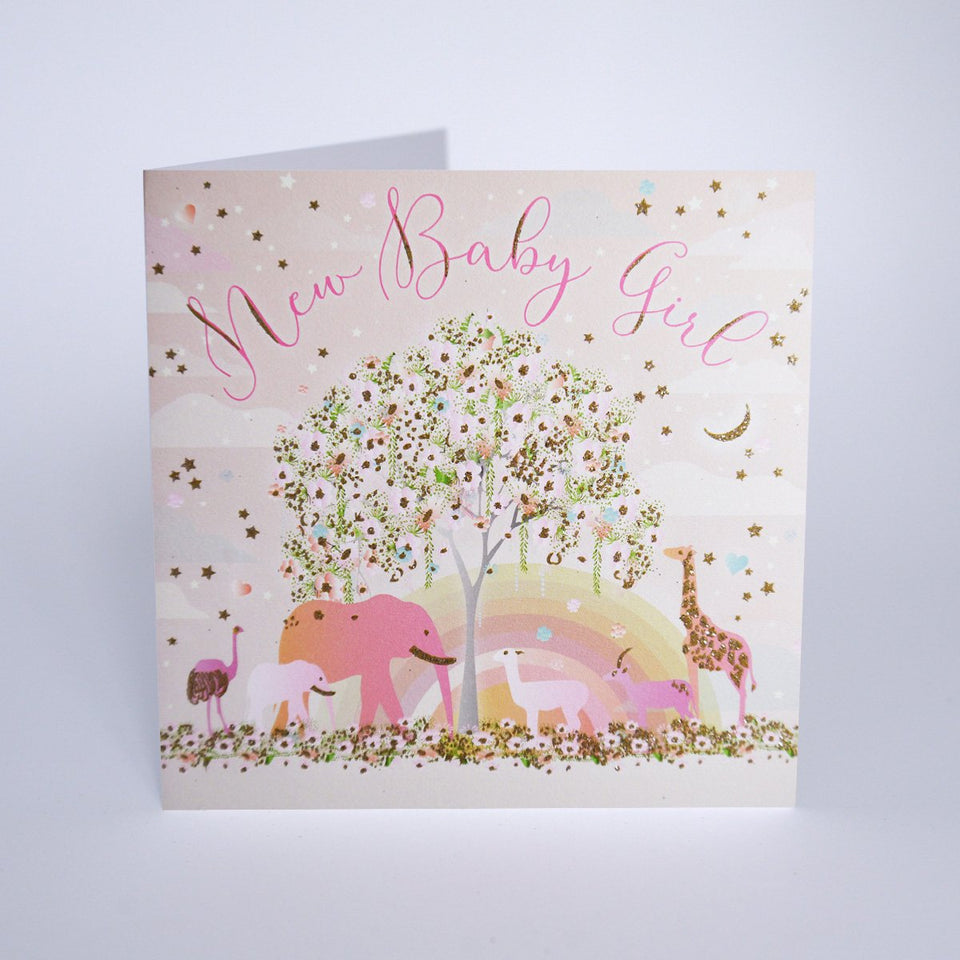 Safari Baby Girl Card - Five Dollar Shake